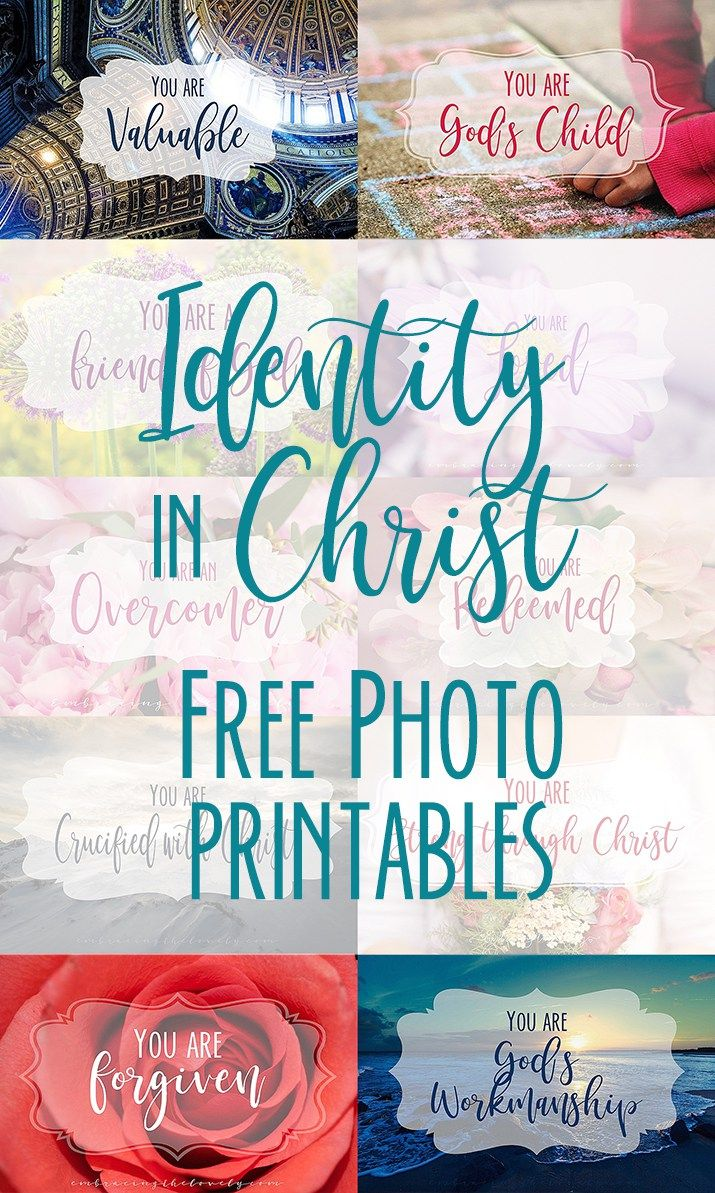 Identity in Christ Photo Printables
