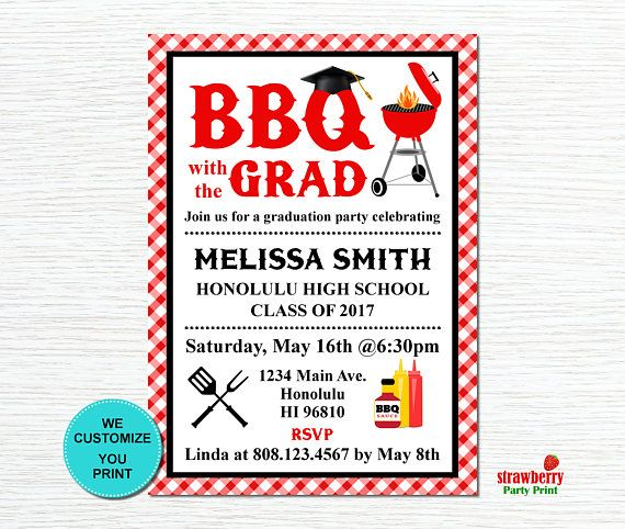43 best graduation images on pinterest grad parties graduation backyard bbq invitation graduation bbq barbeque party cookout invitation summer cookout printable invitation g11 filmwisefo Images