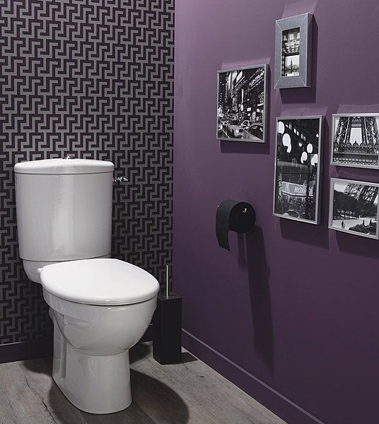 13 best images about peinture mur on pinterest for Carrelage mural wc