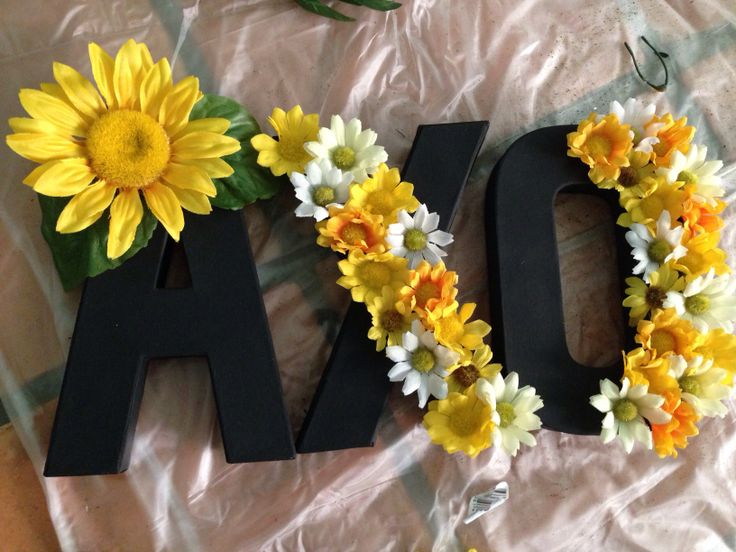 Sorority letters alpha chi omega DIY crafts