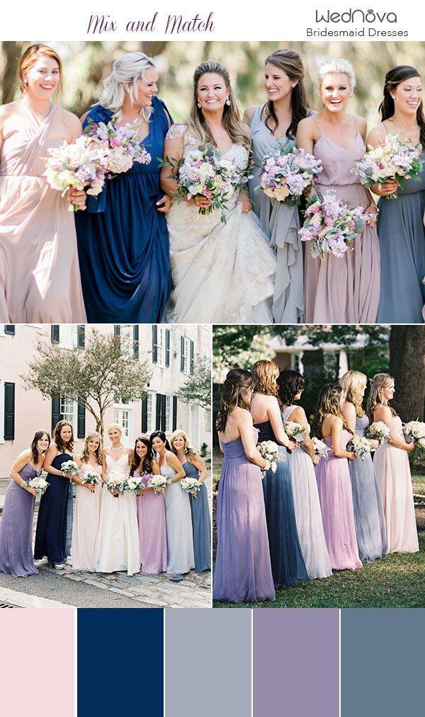 14 Mismatched Bridesmaid Dresses Color Palettes From Real Weddings Bridesmaid Dresses Color Palette Bridesmaid Dress Colors Spring Bridesmaid Dresses