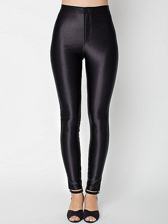 American Apparel - The Disco Pant. I own these and love them. I only wear them on special occasions so I don't wear them out too fast- hearty price tag.