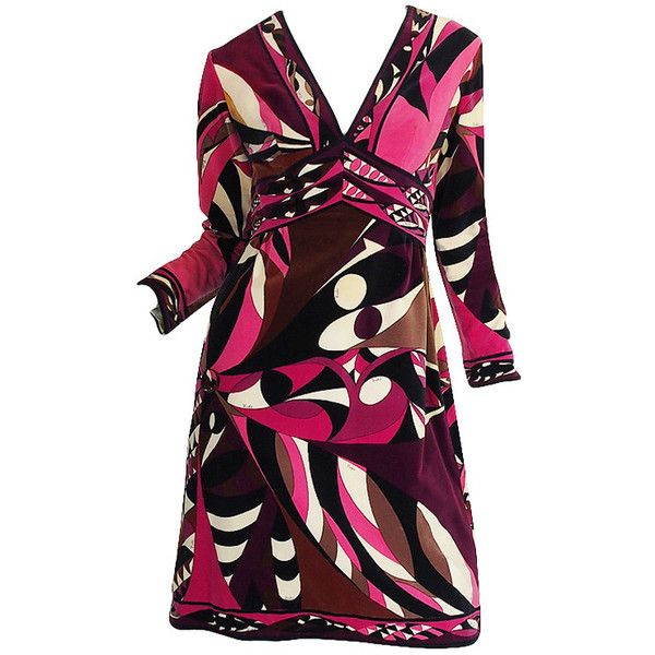 Pre-owned 1960s Rich Hued Pucci Velvet Shift Dress ($825) ❤ liked on Polyvore featuring dresses, day dresses, shift dress, ruched cocktail dress, sexy cocktail dresses, purple polka dot dress and purple shift dress