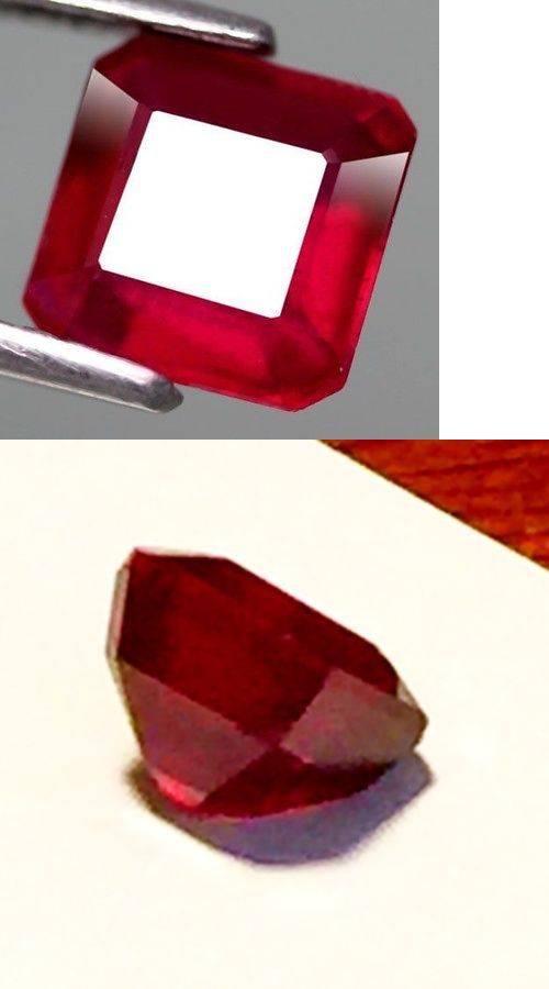 Natural Rubies 3827: Natural Ruby 1.35Ct Asscher Blood Red Gem Precious New Jewelry Loose Usa -> BUY IT NOW ONLY: $35 on eBay!
