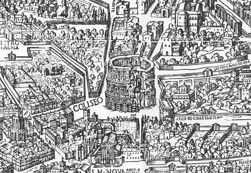 Map Of Medieval Rome Depicting The Colosseum History Pinterest - Rome map cartoon
