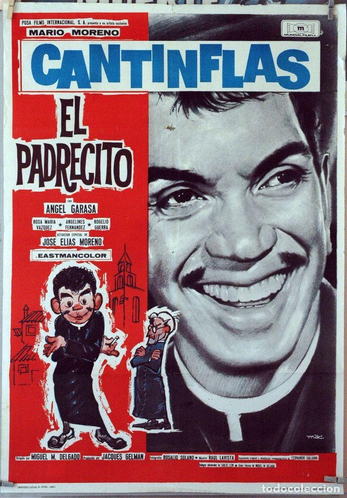 El Padrecito Cantinflas Cartel Original 1965 70x100 Cantinflas Peliculas Del Cine Mexicano Cine De Oro Mexicano