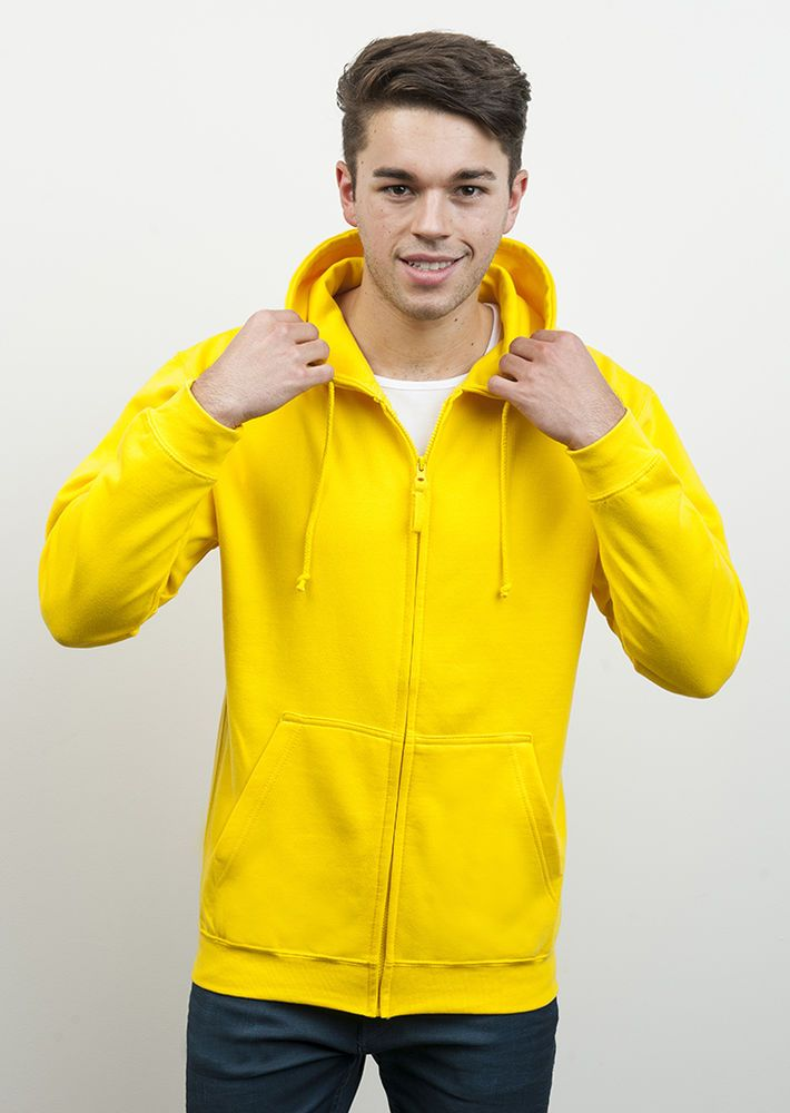 AWDis Mens Full Zip Plain Hooded Hoodie Zoodie (20 Colours)