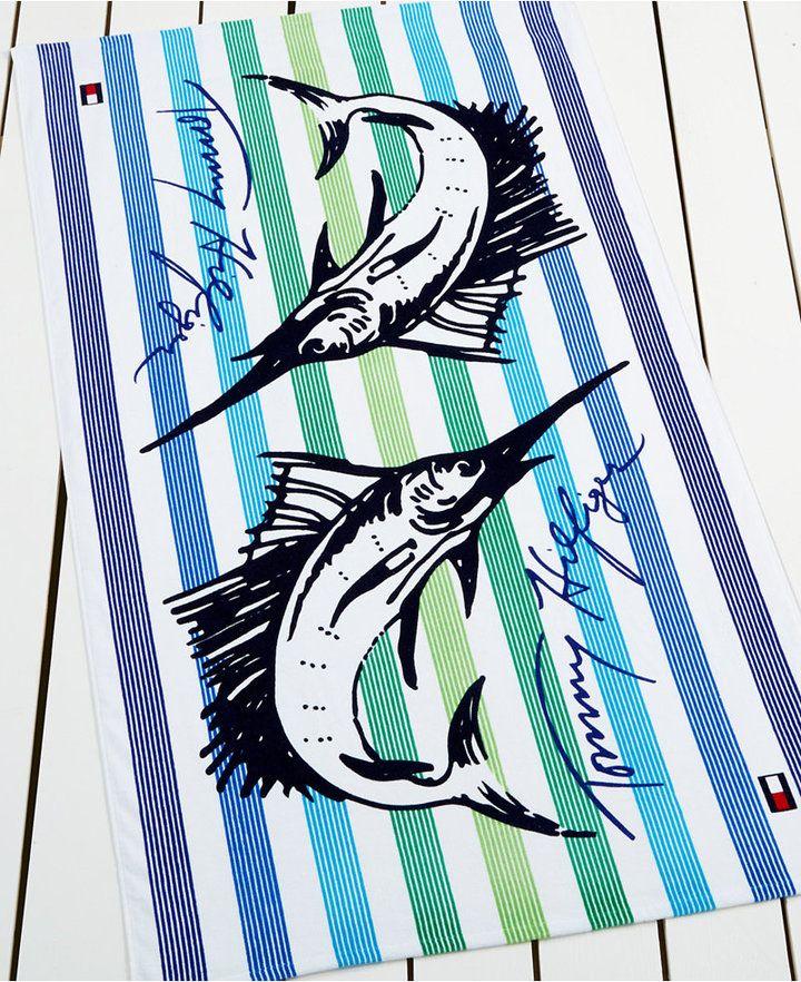 Beach Towel Online: Tommy Hilfiger Marlin Mania Beach Towel Bedding {affiliate