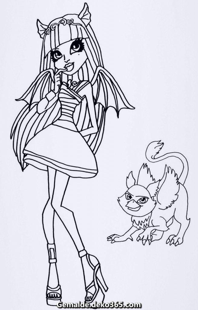 Zauberhafte Ausmalbilder Monster High Rochelle Ausmalbilder Monster High Ausmalbilder Gratis Cute Coloring Pages Monster High Printables Monster High
