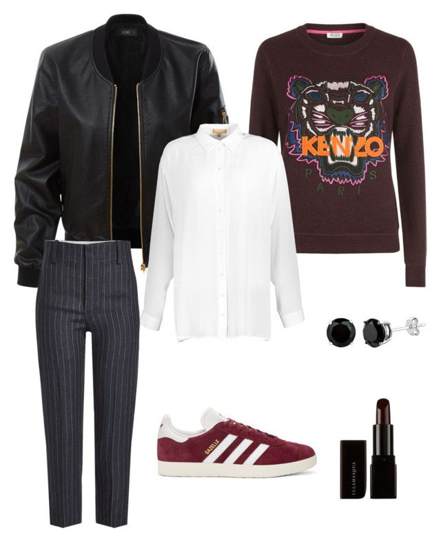 grunge set by eda-kunics on Polyvore featuring Kenzo, Michael Kors, LE3NO, Étoile Isabel Marant, adidas Originals and Illamasqua