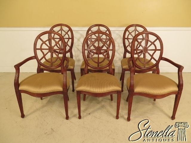 L40964E: Set Of 6 CENTURY Web Back Federal Dining Room Chairs   Antiques, Furniture, Chairs   eBay!