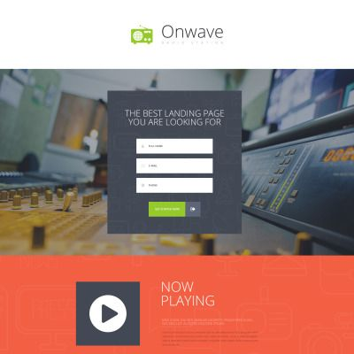 Radio Website Parallax Landing Page Template