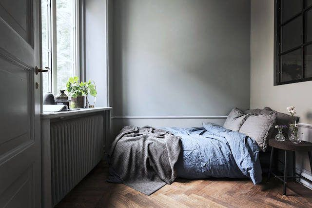 Stone-washed bed linen. Bosthlm.