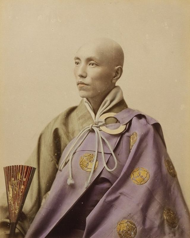 Photo of Buddhist priest possibly taken by Kozaburo Tamamura or Kusakabe Kimbei…