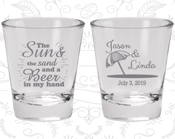 The Sun and The Sand and a Beer in my Hand, Imprinted Shot Glasses, Beach Shot Glasses, Tropical Wedding, Umbrella, Wedding Favor Shot (354)