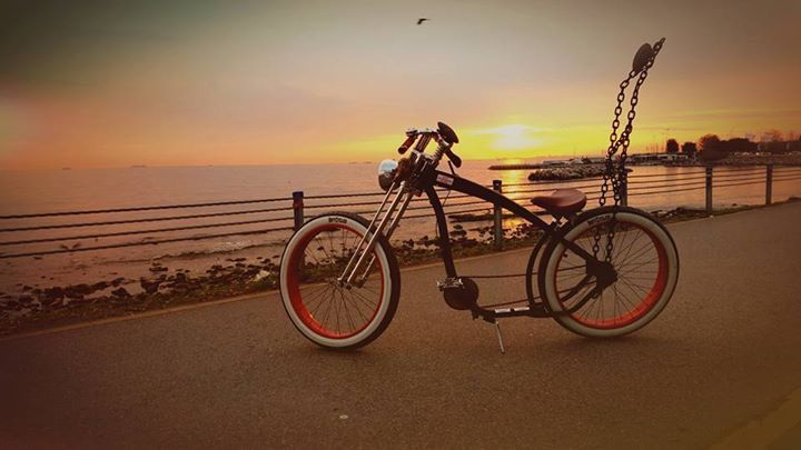 Sunset bike #taobike