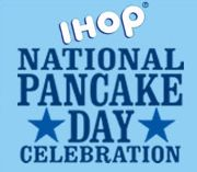 free  pancakes  all day long!  I be  lovin me some on this day!