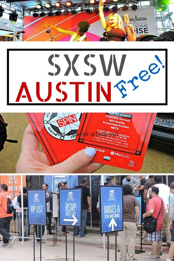 South By Southwest (SXSW) in Austin, Texas is a festival for music lovers and industry buffs. Here is how to avoid the $1K badges and enjoy SXSW for free!