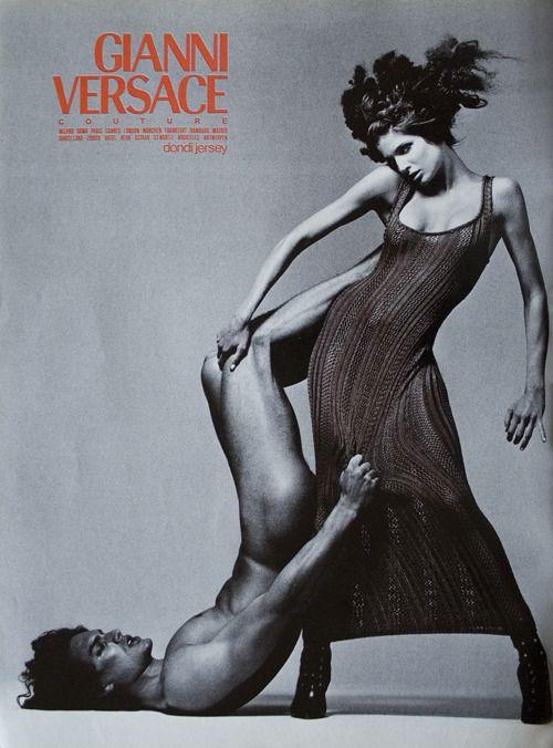 Gianni Versace 1993 - STEPHANIE SEYMOUR & MARCUS SCHENKENBERG