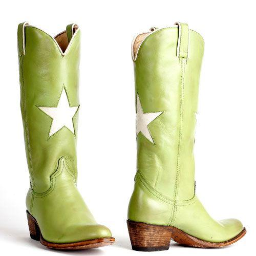 Sendra sterren cowboylaarzen debora 13104 groen