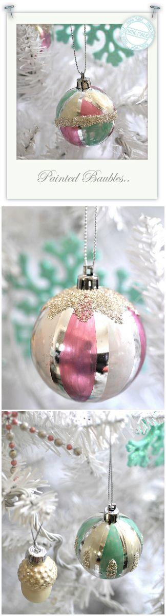 116 best christmas baubles images on pinterest christmas balls christmas diy tutorial vintage inspired baubles hobbycraft kirstieallsopp homemadechristmas solutioingenieria Gallery