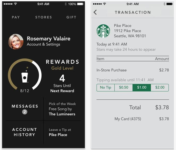 Starbucks iPhone App With Digital Tipping And Shake-To-Pay Now Available | TechCrunch