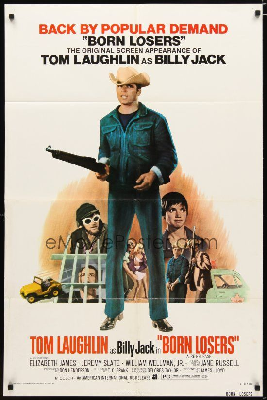 eMoviePoster.com Image For: 2t120 BORN LOSERS 1sh R74 Tom Laughlin directs and stars as Billy Jack, sexy motorcycle image!