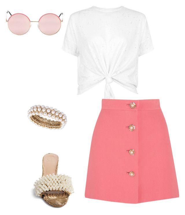 """""""Pink in Greece"""" by fashionwithcare on Polyvore featuring Miu Miu, Tory Burch, Anne Klein and Vans"""