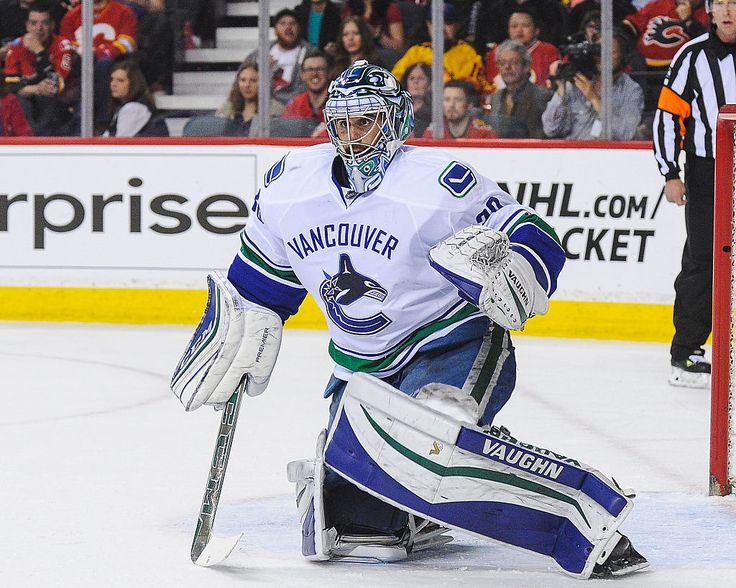 Ryan Miller, goalie for the Vancouver Canucks. Calgary