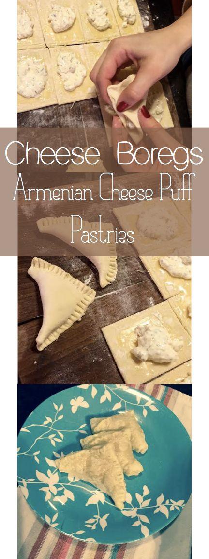Armenian Cheese Boregs: Savory Cheese Puff Pastries