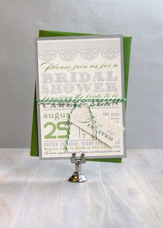 Green Garden Bridal Shower Invitations #beaconlane