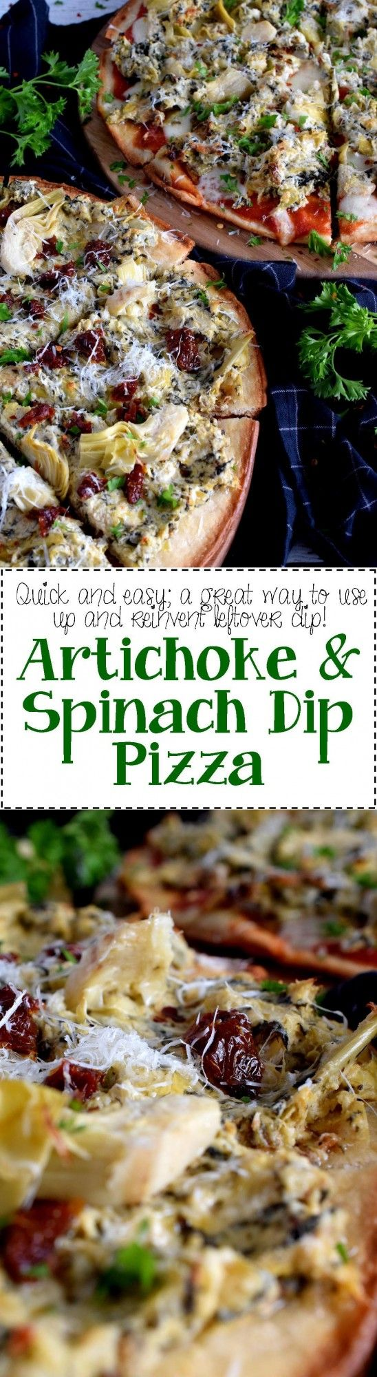 Artichoke and Spinach Dip Pizza - Lord Byron's Kitchen