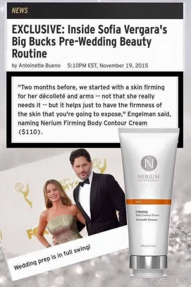 Even celebrities love Nerium! Get your own ordered today! #FollowLauraLives #cellulite #smoothskin