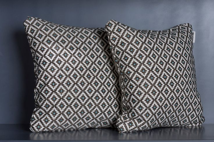 BROCHIER throw pillows in Dama fabric