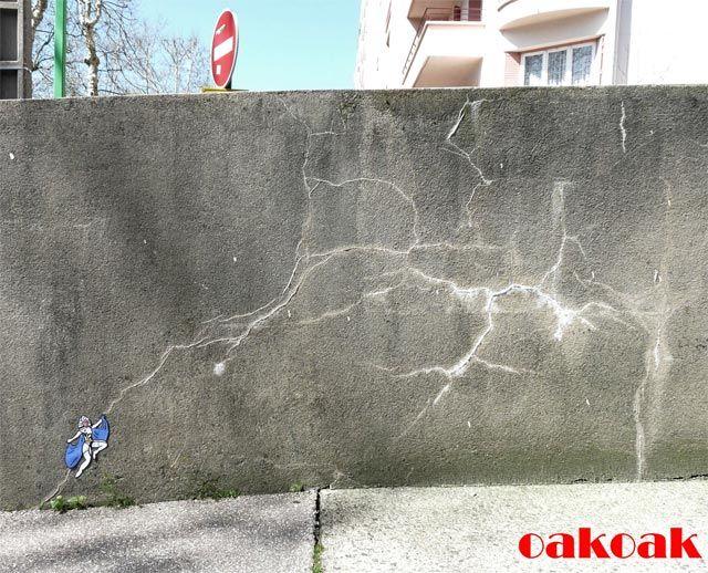 oakoak - artiste - street - street-art - Street-artiste - Saint-Etienne - urbain - humain  - ville