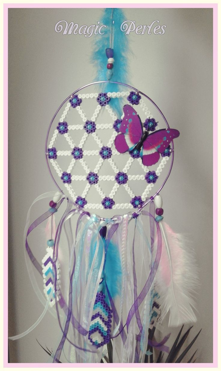 "Collection Attrape-Rêve ""Dentelle"" - Dreamcatcher hama beads by Magic-perles"