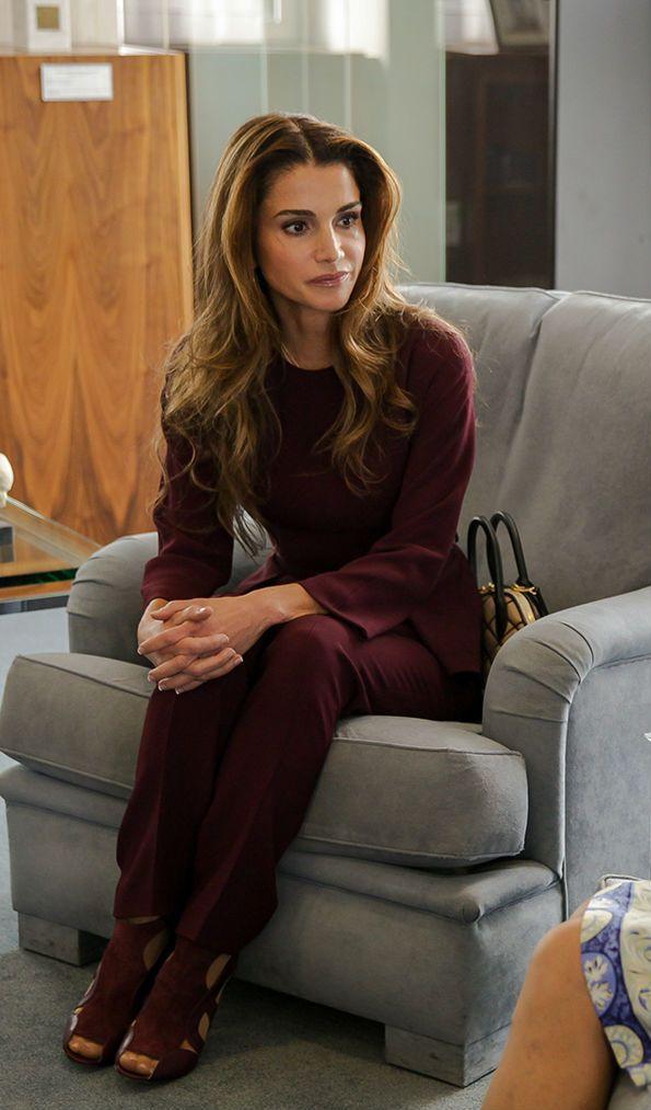 Queen Rania. sept. 17, 2014, France, UNESCO
