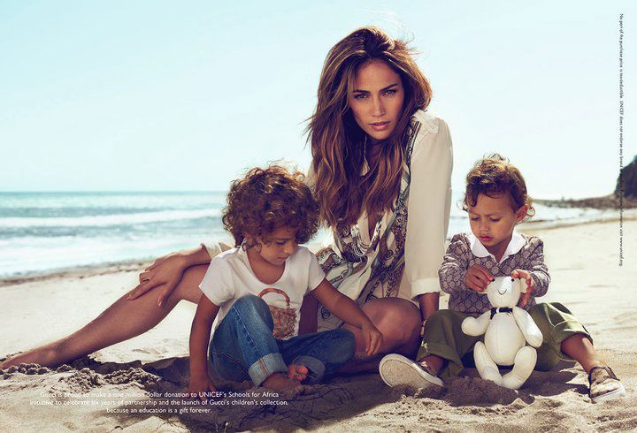 Jennifer Lopez and twins Emme and Maximilian star in Gucci's Children's Collection Spring 2011 campaign