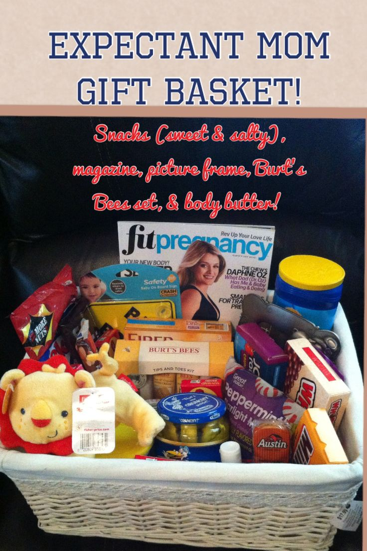 "Expectant mom gift basket ""pregnancy survival kit"""