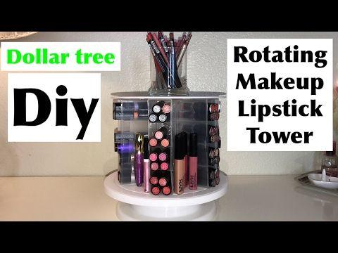 Dollar Tree DIY  spinning Makeup organizer |DIY HOME DECOR - YouTube