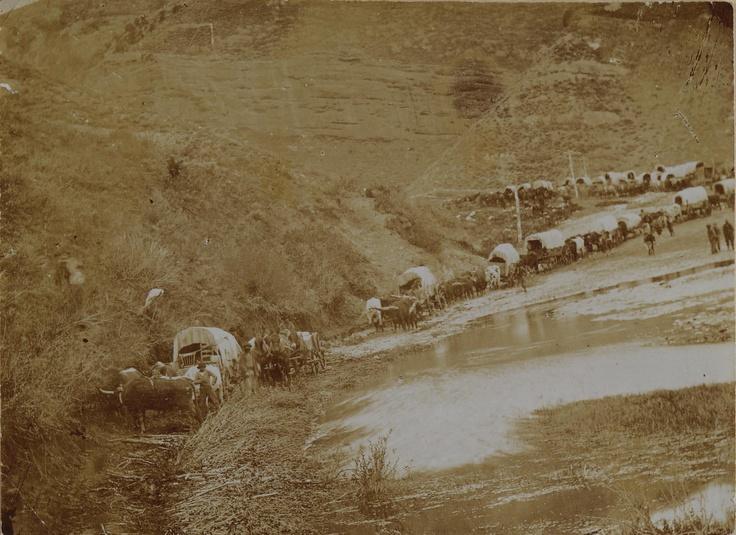 Mormon Pioneeer wagon train Echo Canyon