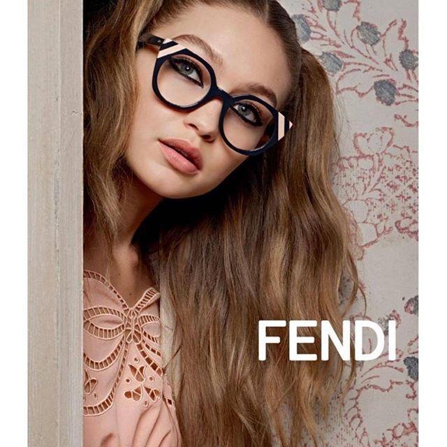 #Gigihadid for Fendi Eyewear SS17 photographed by Karl Lagerfeld