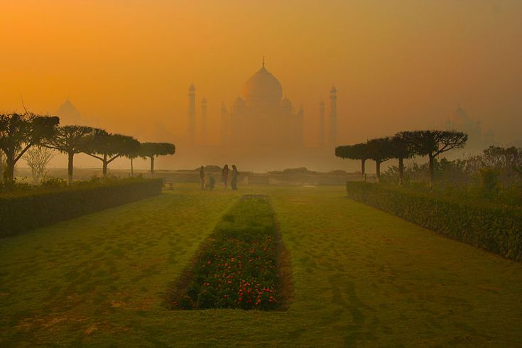 Agra as seen from Mehtab Bagh