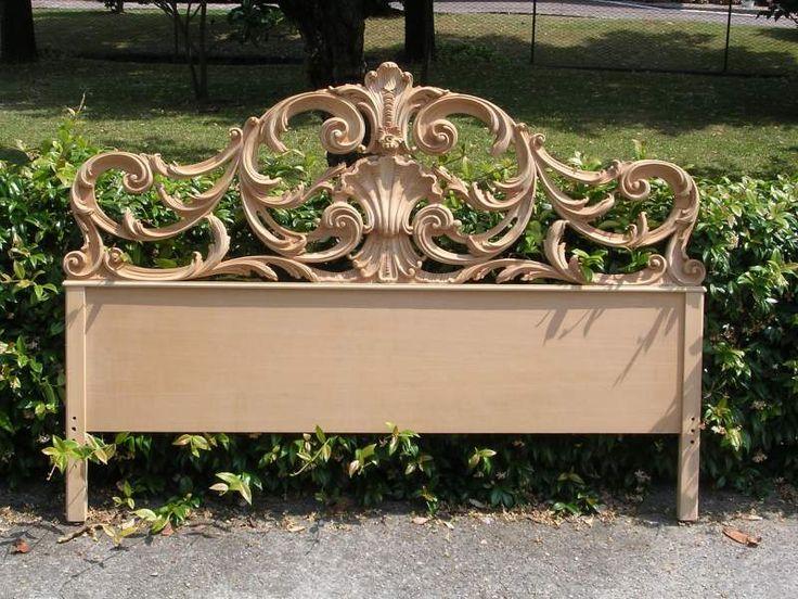 Testata letto in legno grezzo intagliata a... a Meda - Kijiji: Annunci di eBay