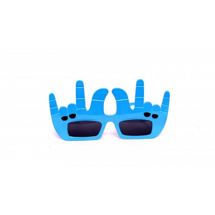 Blue Funky Finger Eye Glasses. Show your cool attitude with these awesome #blue #funky finger #eyeglasses. They will suit best in all #adultparties as well as kids parties!! #PartyAccessories #PartyStuff #EyeGlasses