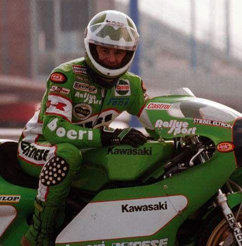 Anton 'Toni' Mang, Kawasaki KR350 1981 world champion in the 250 cc and 350 cc