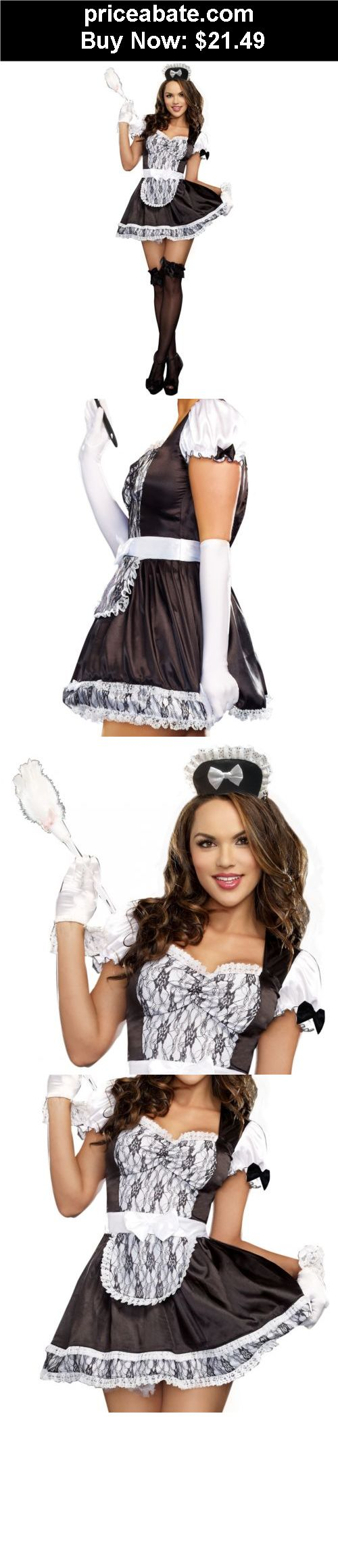 Women-Costumes: French Maid Costume Adult Halloween Fancy Dress - BUY IT NOW ONLY $21.49
