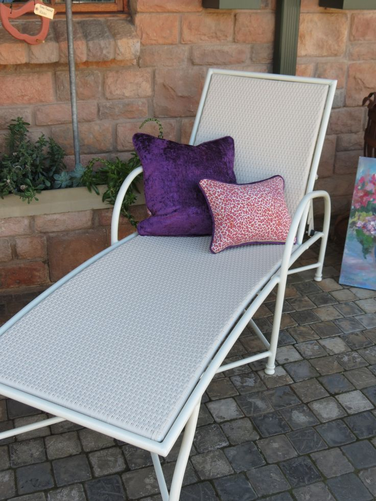 Loungers in various colour options.  Perfect to leave completely exposed.