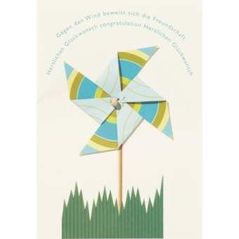 "Windrad Karte ""Gegen den Wind"""