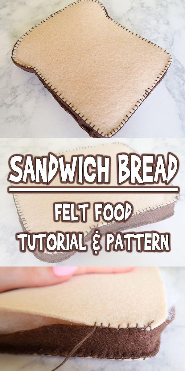 Felt Food Sandwich Bread